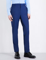 Alexander McQueen Tailored-fit mid-rise wool and mohair-blend trousers