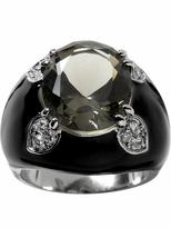 Bejeweled dome ring - Black