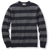 L.L. Bean Lambswool Sweater, Crewneck Stripe