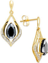 Macy's Onyx (1-1/4 ct. t.w.) and Diamond Accent Earrings in 14k Gold