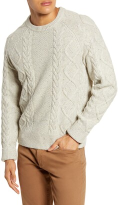 Madewell Donegal Cable Knit Fisherman Sweater