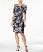 Connected Printed Short-Sleeve Dress