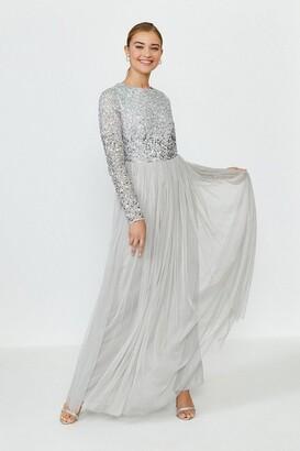 Coast Sequin Ombre Maxi Dress