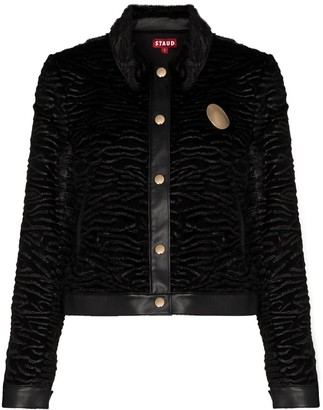STAUD Buddha faux shearling jacket