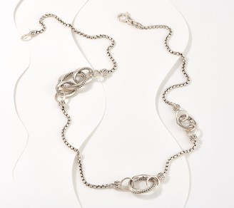 "JAI Sterling Silver Balance & Harmony 24"" Box Chain Link Necklace"