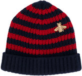 Gucci Bee striped beanie hat