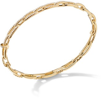 David Yurman Stax Chain Link Bracelet with Diamonds in 18K Yellow Gold/4mm