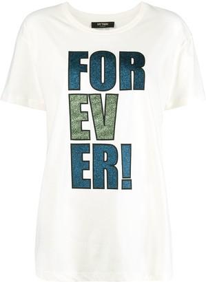 Twin-Set Glitter-Print Cotton T-Shirt