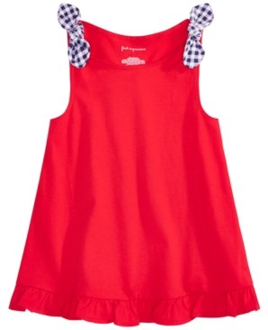 First Impressions Baby Girls Cotton Flounce Knot Tank Top, Created for Macy's