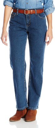 Wrangler Women's As Real As Relaxed-Fit Straight-Leg Jean - Blue - 4W x 30L