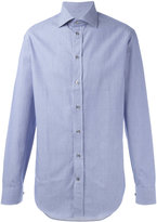 Armani Collezioni fine stripe shirt - men - Cotton - 39