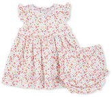 Kissy Kissy Pixie Flowers Smocked Jersey Dress w/ Bloomers, Red/White, Size 6-24 Months