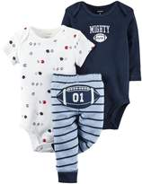 Carter's Baby Boys 3 Pc Back Art 126g346, Navy