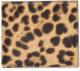 Maison Margiela leopard print billfold wallet - men - Calf Leather/Calf Hair - One Size