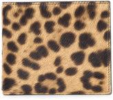 Maison Margiela leopard print billfold wallet