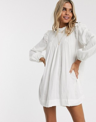 Free People Clover swing tunic dress-White