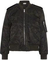 Saint Laurent Camouflage-print Shell Bomber Jacket - Army green