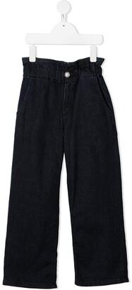 Dondup Kids High Waist Denim Trousers