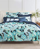 Charter Club Damask Designs Multi Paisley Cotton 300-Thread Count 2-Pc. Twin Duvet Cover Set, Created for Macy's Bedding
