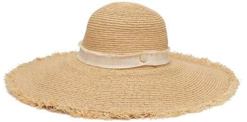 Heidi Klein Cape Elizabeth Wide Brim Straw Hat - Womens - Beige