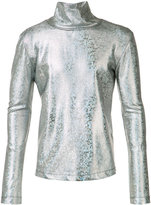 Emiliano Rinaldi metallic palms turtleneck sweatshirt