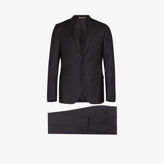 Canali Single-Breasted Two-Piece Wool Suit