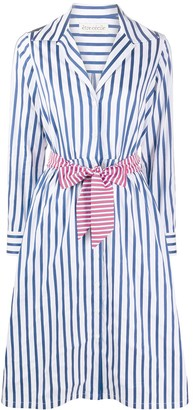 Être Cécile Striped Belted Shirt Dress