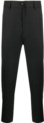 Societe Anonyme Tapered Pinstripe Trousers