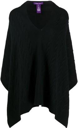 Ralph Lauren Collection Cable Knit Cashmere Poncho