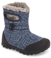 Bogs Toddler Boy's B-Moc Geo Waterproof Insulated Faux Fur Boot