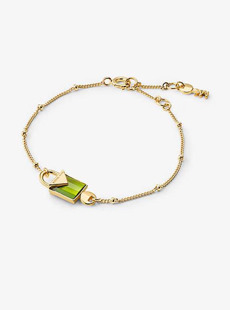 Michael Kors 14k Gold-Plated Sterling Silver Lock Bracelet