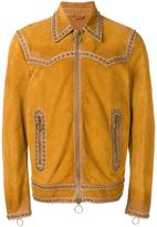 DSQUARED2 Western studded accent jacket - men - Calf Leather/Aluminium - 52