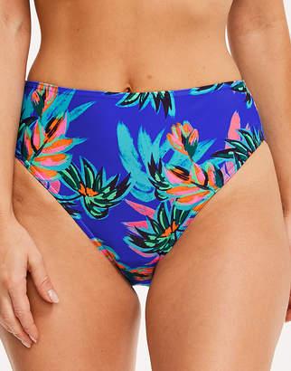 Figleaves Fiji Palm High Waist High Leg Bikini Brief