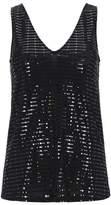 Wallis Black Sequin Embellished Camisole Top