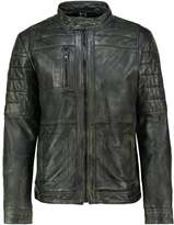 Mustang Edward Leather Jacket Khaki