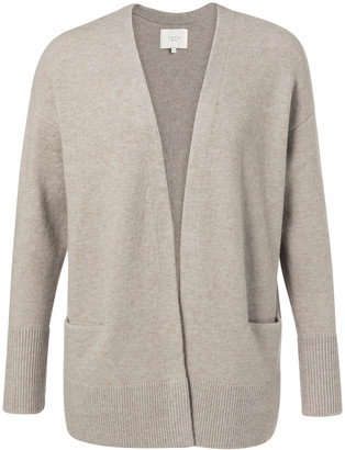 Ya-Ya Wool Blend Cardigan with Front Pockets Beach Sand Melange - small | sand | wool - Sand