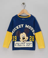 Children's Apparel Network Blue & Yellow 'Mickey 1928' Layered Tee - Toddler
