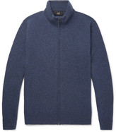 Dunhill Cashmere Zip-up Sweater - Navy