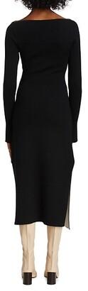 3.1 Phillip Lim Cutout Merino Wool Midi Dress