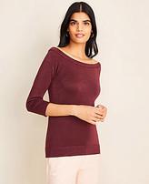 Ann Taylor Shimmer Off The Shoulder Sweater