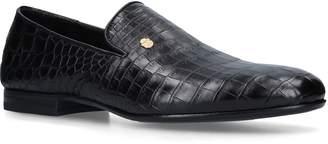 Billionaire Crocodile Crest Loafers