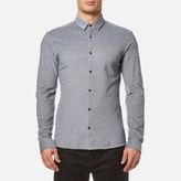 HUGO Men's Ero3 Long Sleeve Shirt Navy
