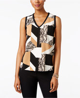 INC International Concepts Petite Sleeveless Printed Top, Only at Macy's