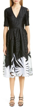 Carolina Herrera Fil Coupe A-Line Dress