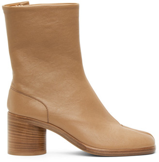 Maison Margiela Tan Tabi Vintage Boots