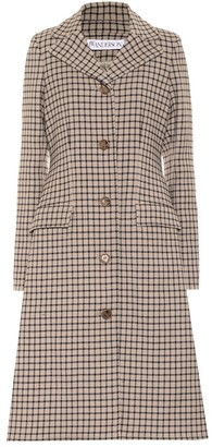 J.W.Anderson Checked wool-blend coat