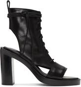 Ann Demeulemeester Black Leather Boot Sandals