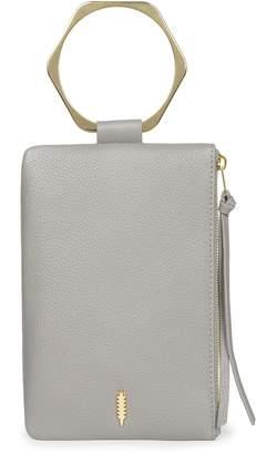 THACKER Nolita Hexa Ring Handle Leather Clutch