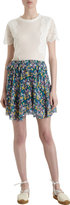 Band Of Outsiders Multicolored Floral Mini Skirt