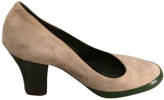 Dries Van Noten Grey Leather Heels